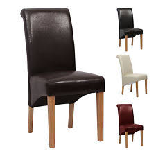 faux leather high back chairs. premium dining chair faux leather scroll back high roll top living 9140 chairs i