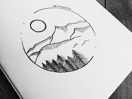 Inspired By Nature Mountains Circle Tattoo Design Ink