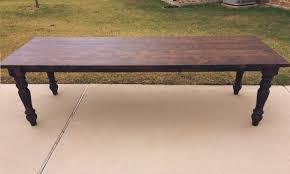 turned leg farmhouse table custom dining table previous next