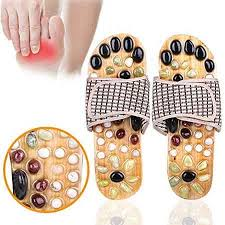 Image result for acupressure slippers wooden