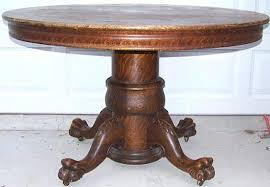 very nice original finish antique oak claw foot pedestal table clawfoot dining room