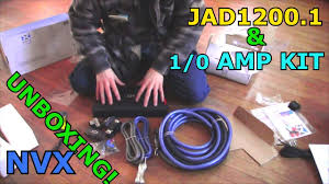 nvx jad1200 1 bass amp 1 0 gauge xapk1d amplifier wiring kit unboxing pure copper wire