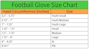 Nike Youth Football Gloves Size Chart Images Gloves And