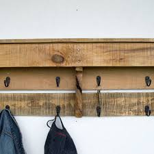 Reclaimed Wood Coat Rack Shelf Classy Entryway Coat Hooks Reclaimed Wood Coat From ByDadandDaughter