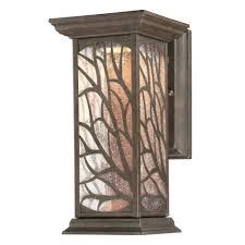 glenwillow 1 light victorian bronze outdoor integrated led wall mount lantern