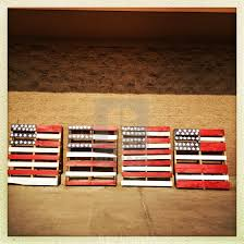 wooden pallets painted to look like the american flag stock image