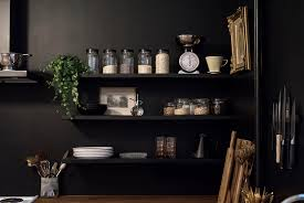 ... Home Renovation: Black Walls in the Kitchen / No Glitter No Glory /  Pitch Black