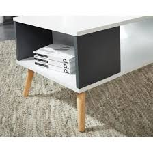 BABETTE Ensemble table basse gris anthracite et blanc + meuble TV ...
