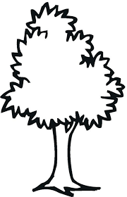 Tree Coloring Page Easy Template For Preschoolers Free Christmas