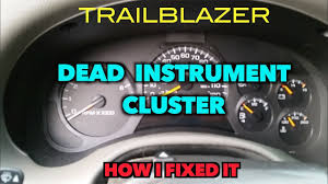 Chevy Trailblazer All Dash Lights On Trailblazer Instrument Cluster Dead How I Got Mine Working Again
