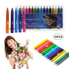 eenten 16 color face painting kits non toxic washable face paint painting crayons