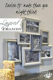 Gallery Wall Collection Of Layered Frames Easy Diy Farmhouse Style Project  Do You Have Photo Frame Wall Display Ideas Picture Frame Display Rack How  To Make ...