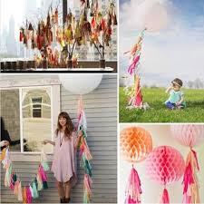 <b>14 inch tissue</b> paper tassel garland birthdays party decorations ...
