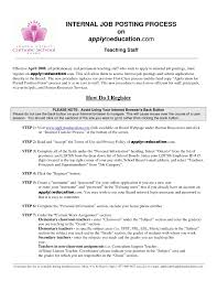 Examples Of Resumes Resume Template For Internal Job Posting Best