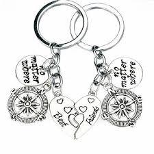 <b>2PC No Matter where</b> Heart <b>Best Friend</b> Compass Key Chain ...