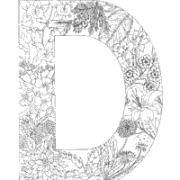 Small Picture Plants Alphabet Coloring Pages Surfnetkids