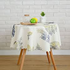 qiao jin tablecloth round tablecloth waterproof and heated balcony camping small fresh garden tablecloth color b