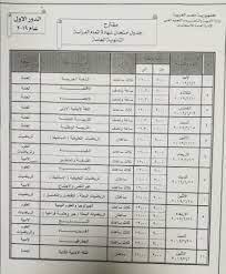 جدول امتحانات الثانوية العامة 2019 الدور الاول - نبأ حصري