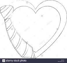 decorative heart symbol icon vector ilration graphic design