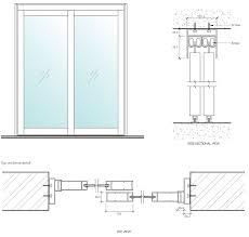 aluminium sliding door detail drawing sliding door designs