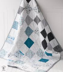 Quilt Patterns For Boys Impressive Color Blocked Patchwork Baby Quilt Tutorial A Free Quilt Pattern