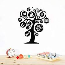 Crjzty Knowledge Tree <b>Wall Decal</b> Science School Chemistry ...