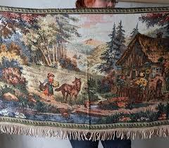 vintage gobelin wall rug gdr tapestry