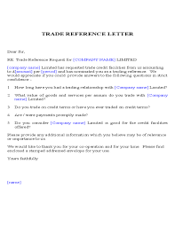 Sample Trade Reference Template Resume Template Sample