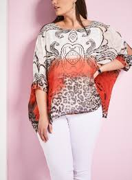 clothing and accessories for women to fit every shape frank lyman printed poncho blouse