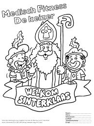 Sinterklaas Kleurplaat 2018 Medisch Fitness Venray