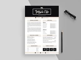 Modern Looking Font For Resume Free Modern Feminine Resume Cv Template With Cover Letter In