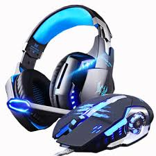 Gaming Headphones and Mouse Wired Stereo Gamer Earphone ...