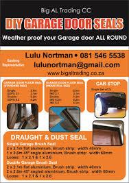 diy garage door seals let us fill your gap
