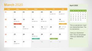 Photo Calander 2020 Calendar Powerpoint Template