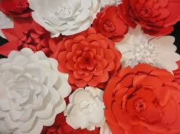 Red Paper Flower Red Paper Flower Wall 5 Ft X 5 Ft Extra Large Paper Flowers Decoration Photo Backdrop Prop Valentines Day Decor