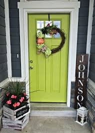 Lime green decor  My green front door