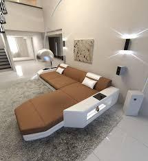 Modern Fabric Sofa Dallas Led L Shaped