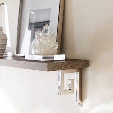 Customizable Wood Shelf And Brackets Grey Oak