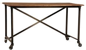 industrial metal and wood furniture. Custom Made Postobello Industrial Metal And Rustic Wood Desk Furniture D