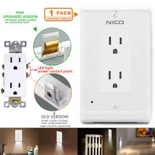 Led Cover Plate Night Light 1 Pack Wall Outlet Cover Plate With Led Night Lights