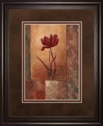 classyartwholers poppy silhouette by vivian flasch framed painting print reviews wayfair