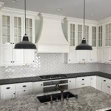 impressive subway tile kitchen backsplash white