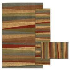 3 piece rug set sunset sierra 8 ft x ft 3 piece rug set bed bath