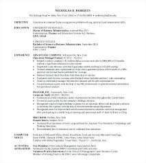 Mba Resume Examples Examples Mba Graduate Resume Samples