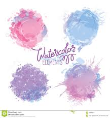 Calligraphy Backgrounds Vector Calligraphy On Watercolor Stain Background Stock