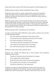 writing a reflective essay toreto co how to write essays s nuvolexa  reflective essay format designsid com how to write conclusion 17 student nu how to write reflective