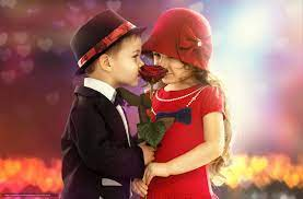 wallpaper children, girl, boy, romance ...