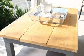creating a chic outdoor table from the ikea lack series