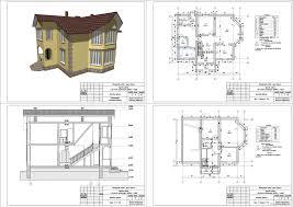 Курсові і дипломні проекти котеджі дачі скачати котедж в dwg  Курсовий проект Двоеповерховий житловий будинок 13 32 х 9 95 м