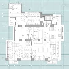 Pub Design Plan Standard Furniture Symbols Used In Architecture Plans Icons Set